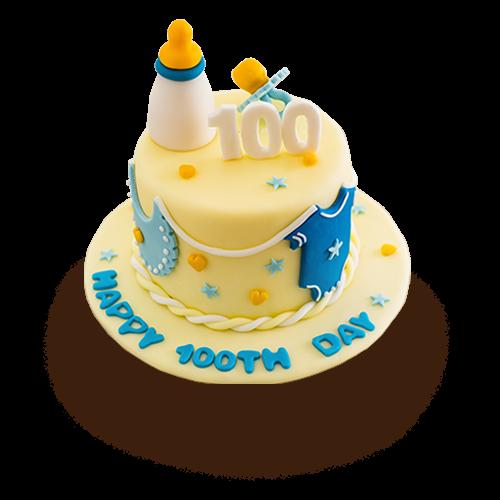 Enjoyable Baby 100Th Day Cake Eatzi Gourmet Bakery Funny Birthday Cards Online Hendilapandamsfinfo